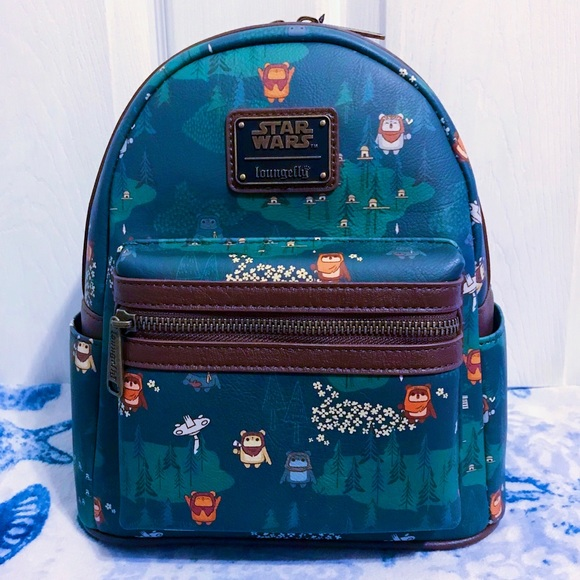 NWT 🌲 Loungefly Star Wars Ewok Forest Backpack
